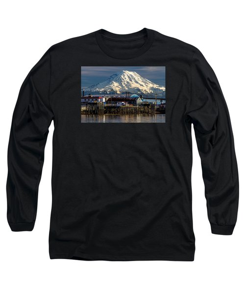Long Sleeve T-Shirt featuring the photograph Thea Foss Waterway And Rainier 2 by Rob Green