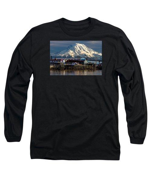 Thea Foss Waterway And Rainier 2 Long Sleeve T-Shirt