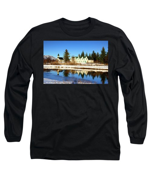 Long Sleeve T-Shirt featuring the photograph Thingvellir Iceland  by Matthias Hauser
