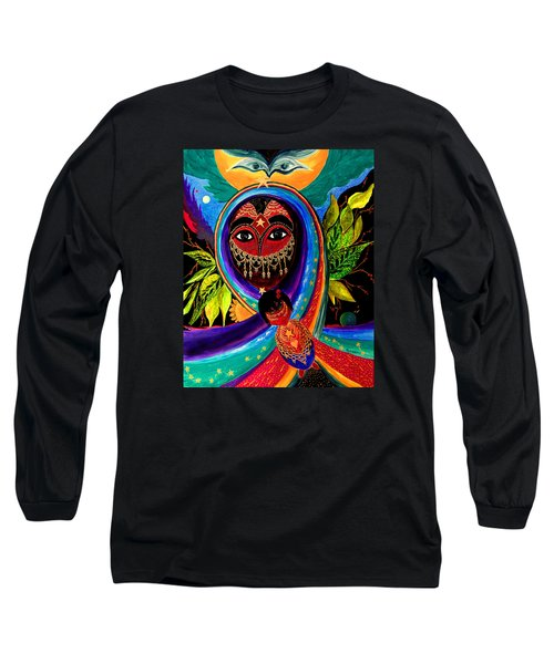 Long Sleeve T-Shirt featuring the painting Mother And Child by Marina Petro