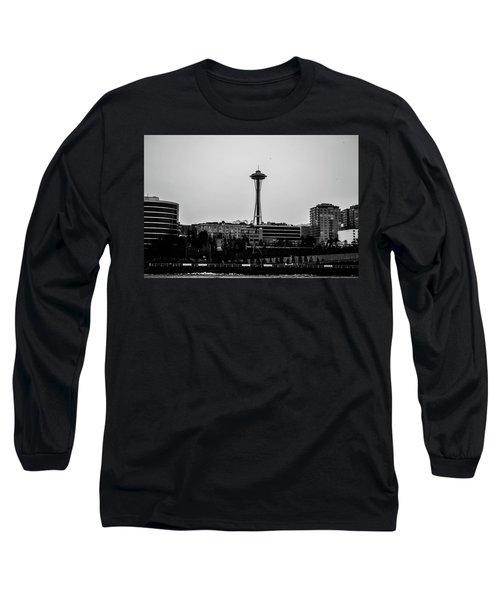 This Is Seattle Black And White Long Sleeve T-Shirt