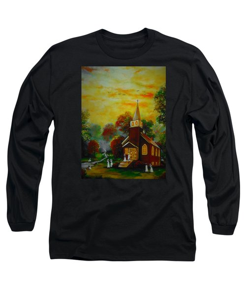 This Sunday Long Sleeve T-Shirt by Emery Franklin