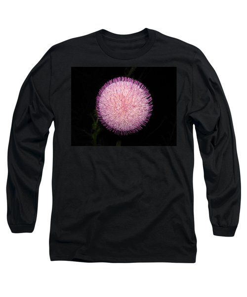 Thistle Bloom At Night Long Sleeve T-Shirt by J R Seymour
