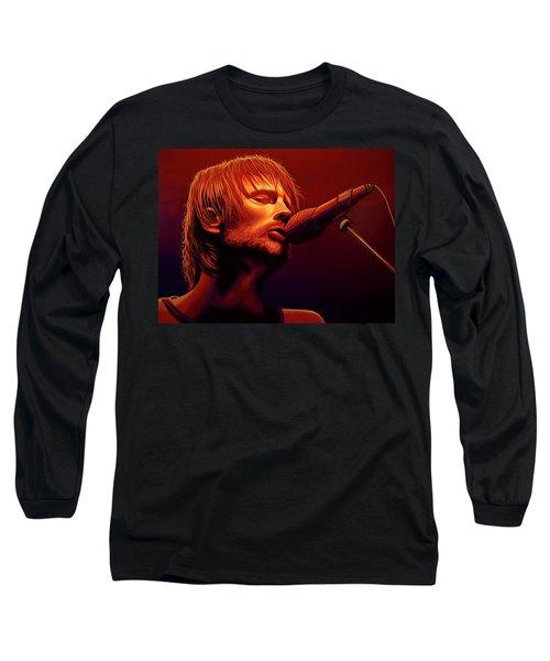 Thom Yorke Of Radiohead Long Sleeve T-Shirt
