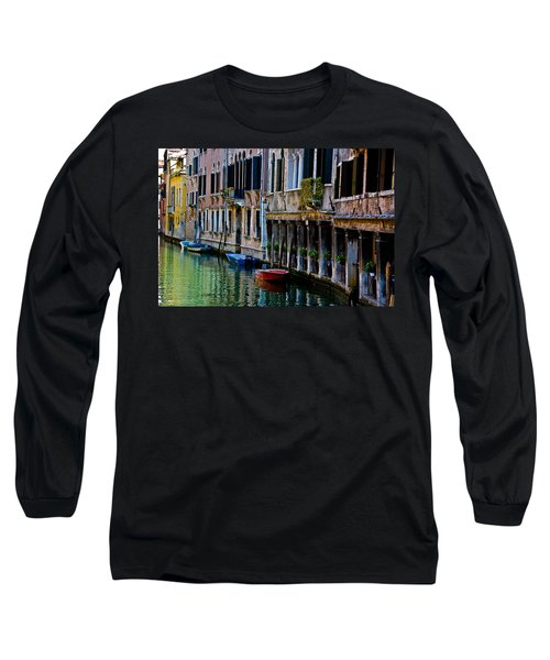 Long Sleeve T-Shirt featuring the photograph Three Boats by Harry Spitz