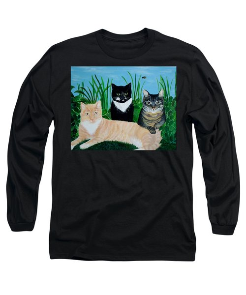 Three Furry Friends Long Sleeve T-Shirt