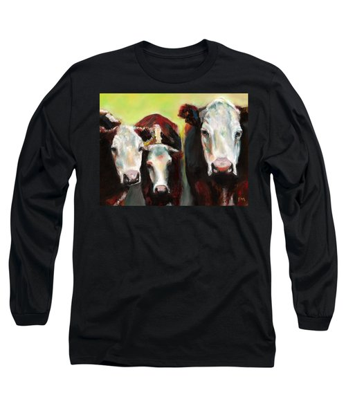 Three Generations Of Moo Long Sleeve T-Shirt