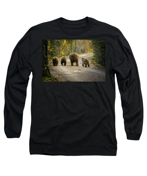 Three Little Bears And Mama Long Sleeve T-Shirt