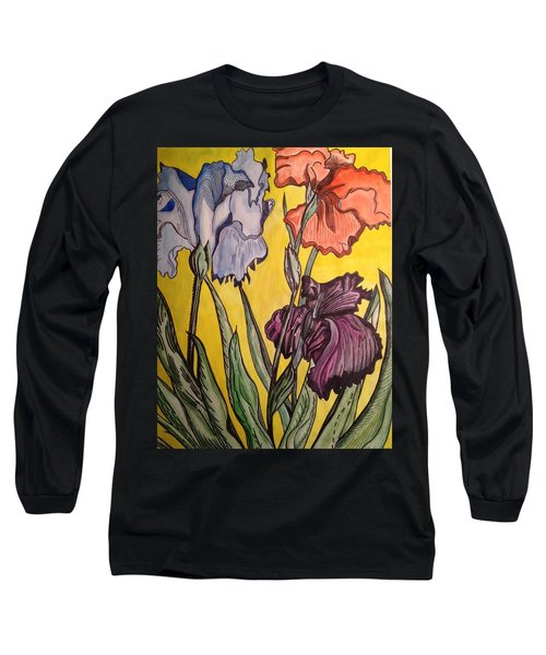 Long Sleeve T-Shirt featuring the painting Three Loves by Andrea Love