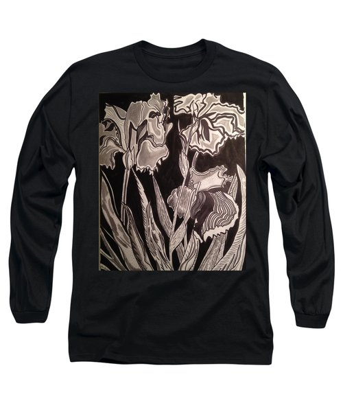 Long Sleeve T-Shirt featuring the painting Three Loves In The Dark by Andrea Love