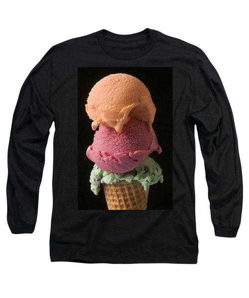 Three Scoops Of Ice Cream  Long Sleeve T-Shirt