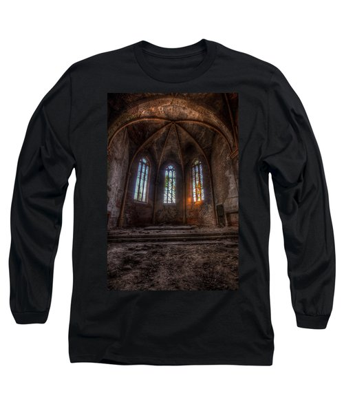Three Tall Arches Long Sleeve T-Shirt by Nathan Wright