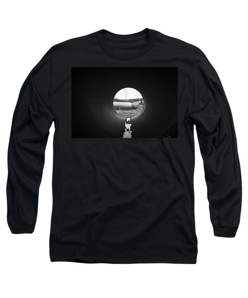Long Sleeve T-Shirt featuring the photograph Through The Pipe by Keith Elliott