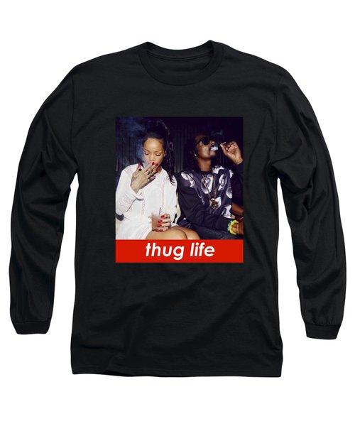 Thug Life Long Sleeve T-Shirt by Bruna Bottin