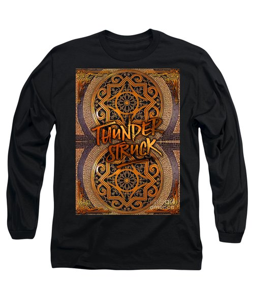 Thunderstruck Palais Garnier Opera Mosaic Floor Paris France Long Sleeve T-Shirt