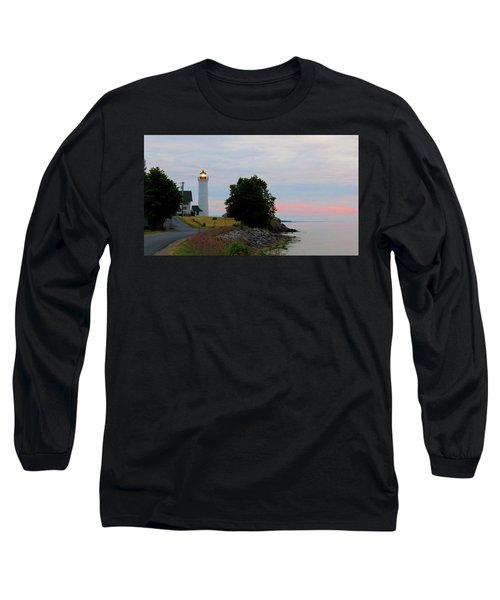 Tibbetts Point Light Sunset Long Sleeve T-Shirt