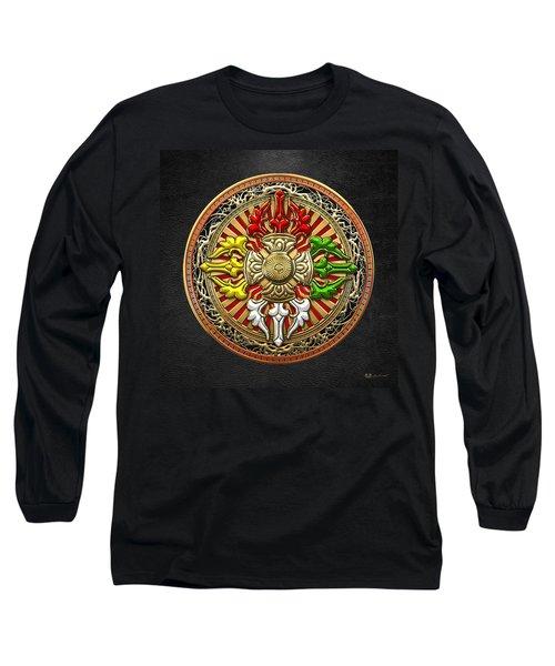 Tibetan Double Dorje Mandala Long Sleeve T-Shirt