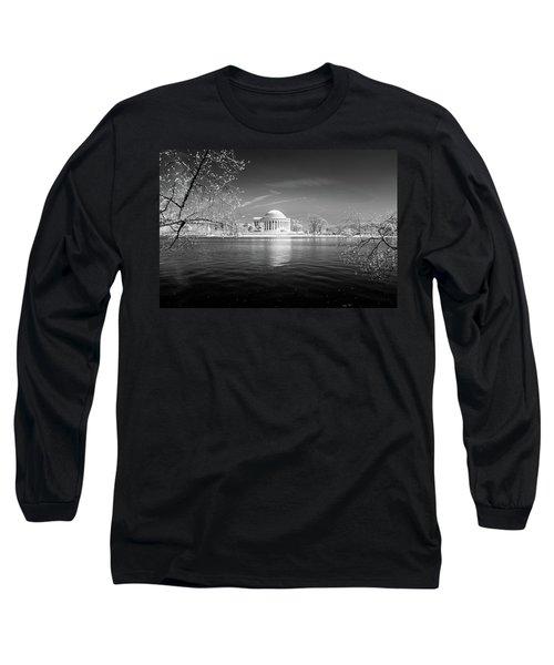 Tidal Basin Jefferson Memorial Long Sleeve T-Shirt by Paul Seymour
