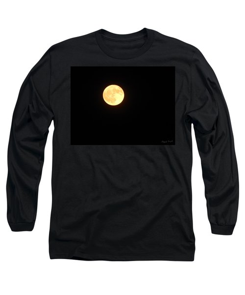 Tie Dyed Orange Moon Long Sleeve T-Shirt