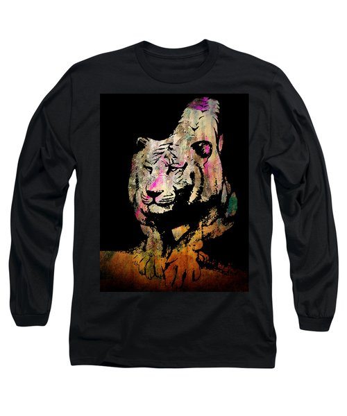 Tiger Collage #1 Long Sleeve T-Shirt by Kim Gauge