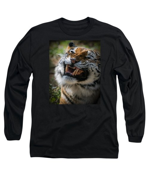 Tiger Faces 5 Long Sleeve T-Shirt by Ernie Echols
