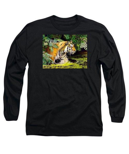 Tiger In The Sunderban Delta Long Sleeve T-Shirt