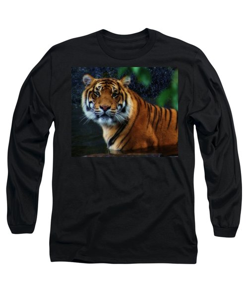 Tiger Land Long Sleeve T-Shirt by Kym Clarke
