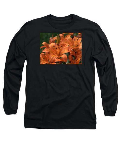 Tiger Lily Blossoms Long Sleeve T-Shirt