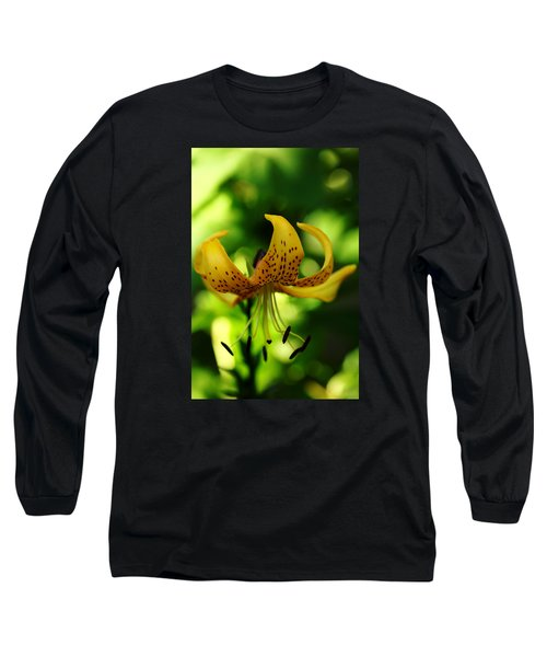 Tiger Lily Long Sleeve T-Shirt by Debbie Oppermann