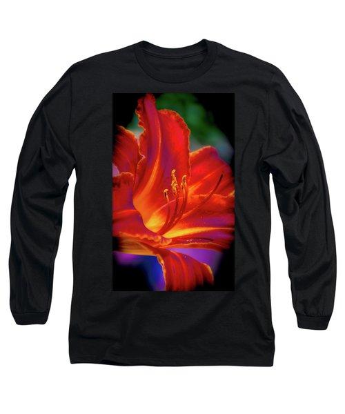 Tiger Lily Long Sleeve T-Shirt by Mark Dunton