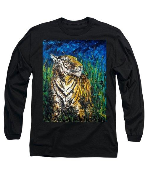 Tiger Night Hunt Long Sleeve T-Shirt