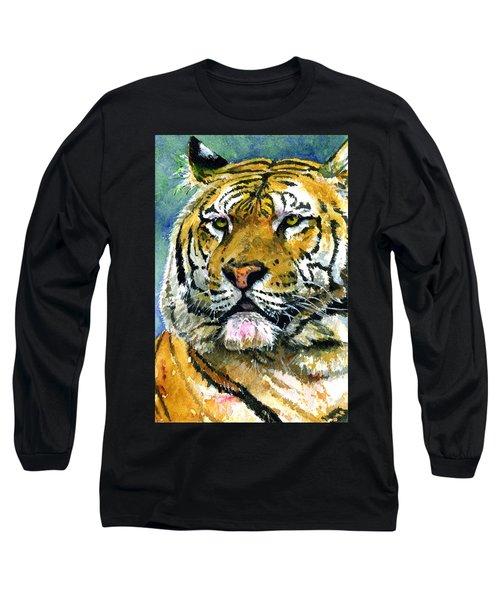 Tiger Portrait Long Sleeve T-Shirt by John D Benson