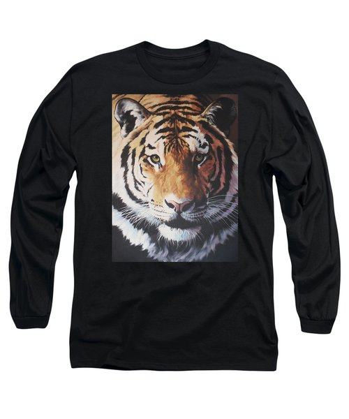Tiger Portrait Long Sleeve T-Shirt by Vivien Rhyan