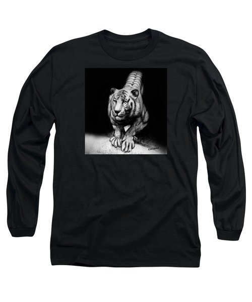 Tiger Study Long Sleeve T-Shirt by Kim Gauge