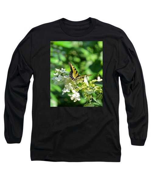 Long Sleeve T-Shirt featuring the photograph Tiger Swallowtail  by Nancy Patterson