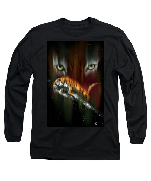 Tiger, Tiger Burning Bright Long Sleeve T-Shirt