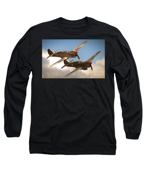Tigers On The Prowl P-40 Warhawks Long Sleeve T-Shirt