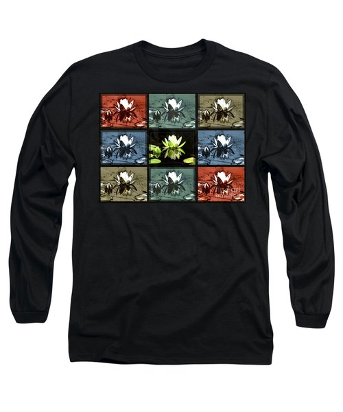 Tiled Water Lillies Long Sleeve T-Shirt