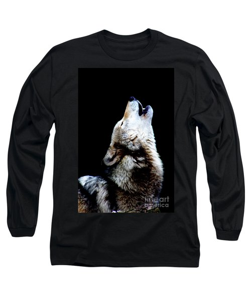 Time To Howl Long Sleeve T-Shirt by Nick Gustafson