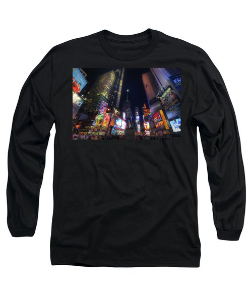 Times Square Moonlight Long Sleeve T-Shirt