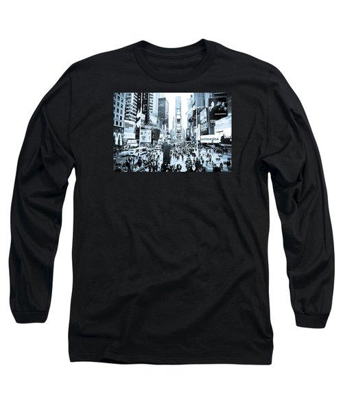 Times Square Long Sleeve T-Shirt by Perry Van Munster