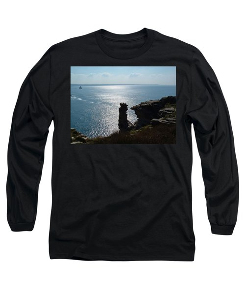 Tintagel Stack Cornwall Long Sleeve T-Shirt