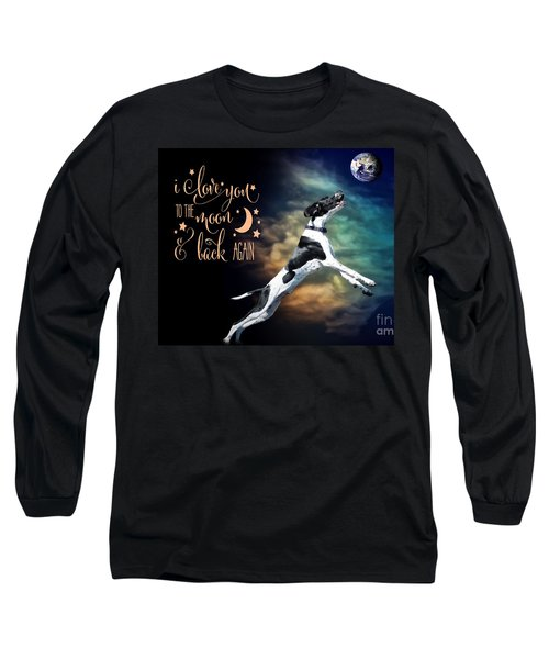 Long Sleeve T-Shirt featuring the digital art To The Moon by Kathy Tarochione
