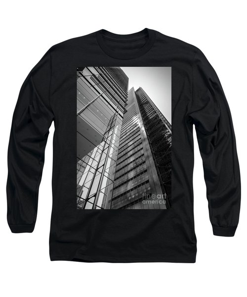 To The Top   -27870-bw Long Sleeve T-Shirt by John Bald
