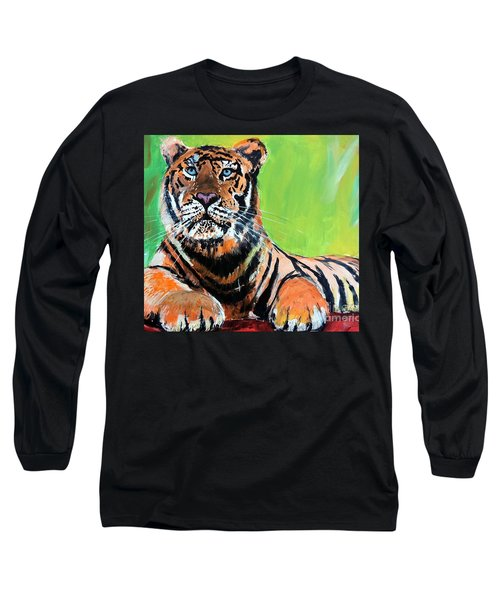 Tom Tiger Long Sleeve T-Shirt by Tom Riggs