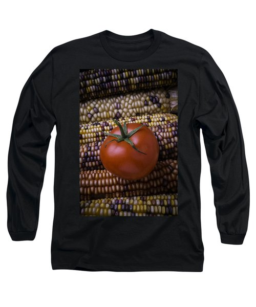 Tomato On Indian Corn Long Sleeve T-Shirt