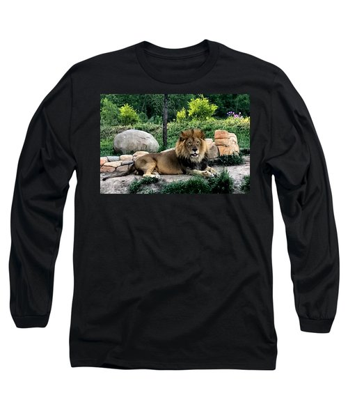 Tomo, The King Of Beasts Long Sleeve T-Shirt by Laurel Talabere