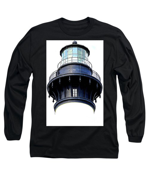 Top Of The Lighthouse Long Sleeve T-Shirt by Shelia Kempf