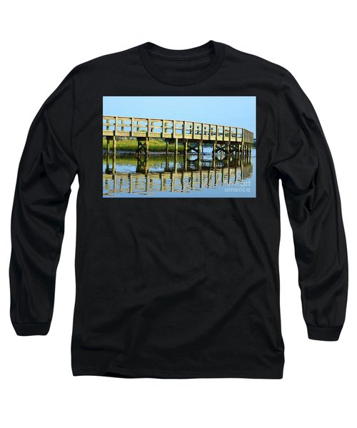 Topsail Island Walk Long Sleeve T-Shirt by Eva Kaufman