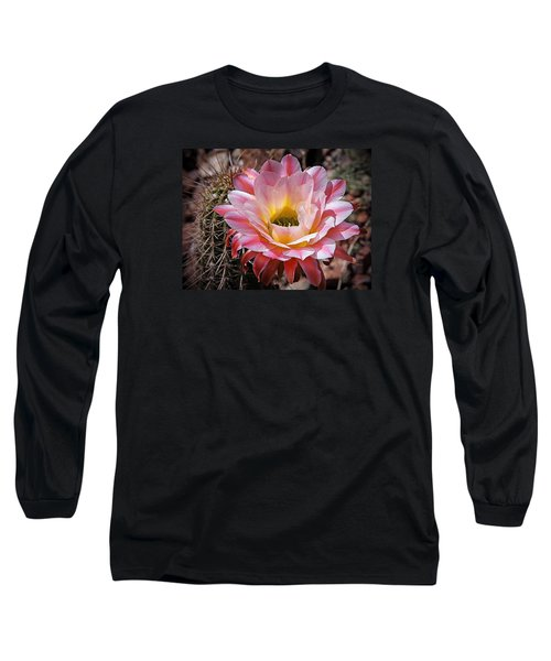 Long Sleeve T-Shirt featuring the photograph Torch Cactus Flower by Elaine Malott